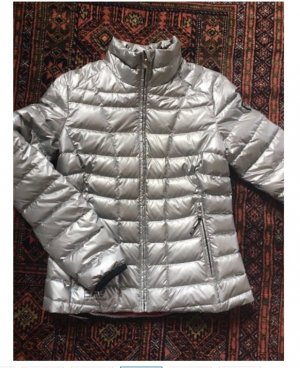 Armani Quilted Jacket silver-colored polyamide