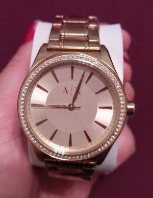 Armani Exchange ax5441 Damenuhr Armbanduhr gold tone kristall