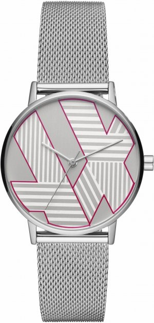 Armani Exchange Watch With Metal Strap multicolored