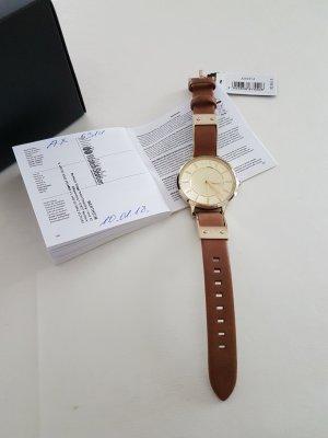 Armani Exchange Orologio con cinturino di pelle oro-marrone Pelle