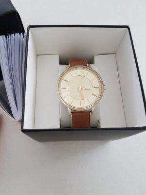 Armani Exchange Damenuhr Uhr AX5314 Gold Leder braun