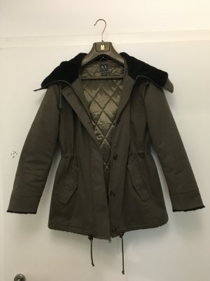 Armani Exchange Hooded Coat multicolored cotton