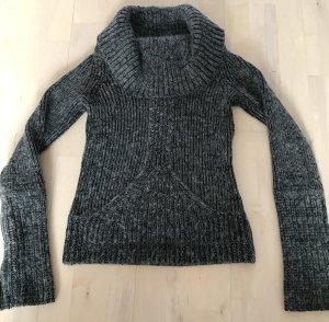Armani Exchange Wollen trui zwart-grijs