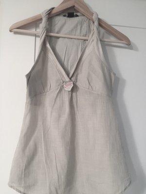 Armani Exchange Long Shirt cream-natural white linen