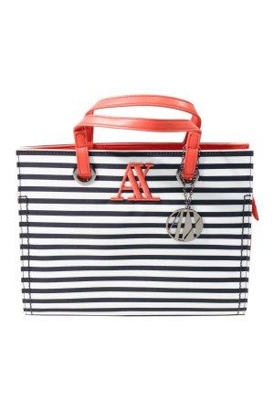 Armani Exchange Handbag white-red polyester