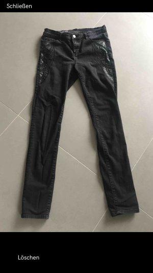 Armani Exchange Pantalone a sigaretta grigio-nero