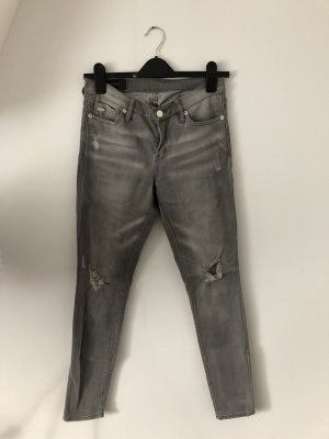 Armani Exchange Skinny Jeans silver-colored