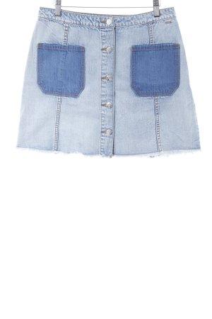 Armani Exchange Jupe en jeans bleu clair-bleu acier style décontracté