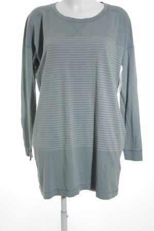Armani Exchange Jerseykleid graublau-weiß Streifenmuster Casual-Look