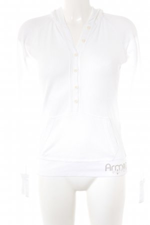 Armani Exchange Hooded Sweater white casual look