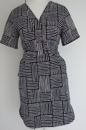 Armani Exchange Dress black-white polyester