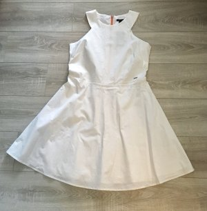Armani Exchange Empire Dress white-orange