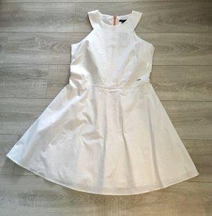 Armani Exchange Vestido corte imperio blanco-naranja