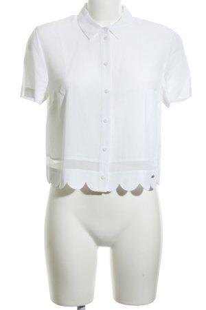 Armani Exchange Camicetta a maniche corte bianco stile professionale
