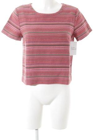 Armani Exchange Kurzarm-Bluse Streifenmuster Street-Fashion-Look