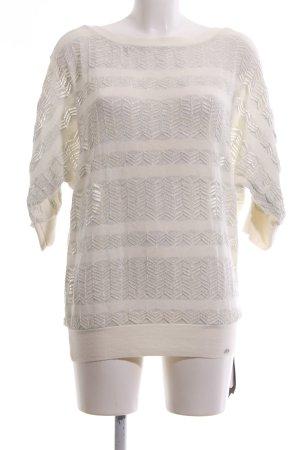 Armani Exchange Pull à manches courtes blanc cassé-gris clair imprimé allover