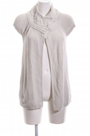 Armani Exchange Cardigan à manches courtes blanc style décontracté