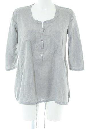 Armani Exchange Long Sleeve Blouse light grey flecked casual look