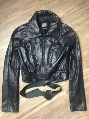 Armani Exchange Giacca in pelle nero