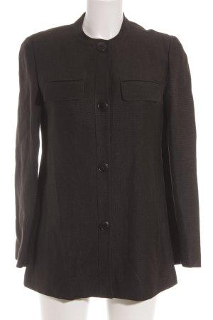 Armani Exchange Lange blazer donkerbruin klassieke stijl