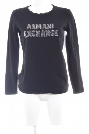 Armani Exchange Longshirt schwarz Casual-Look