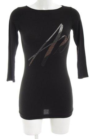 Armani Exchange Longsleeve black casual look