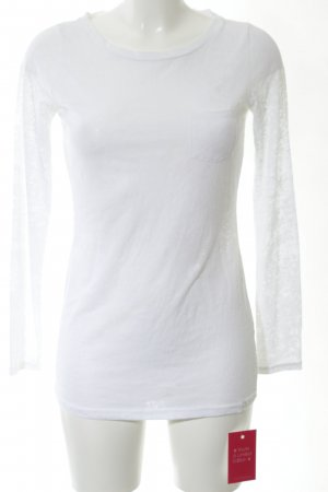 Armani Exchange Top à manches longues blanc style décontracté