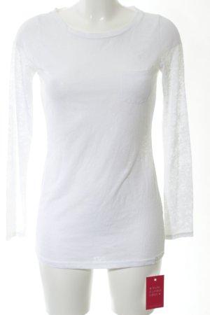 Armani Exchange Longsleeve white casual look