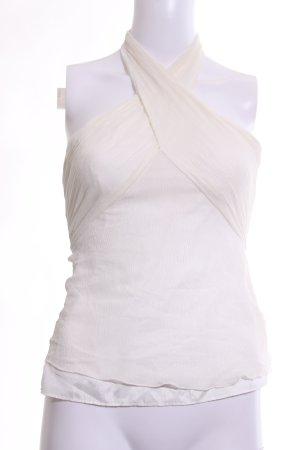Armani Exchange Haut à nouer autour du cou blanc cassé élégant