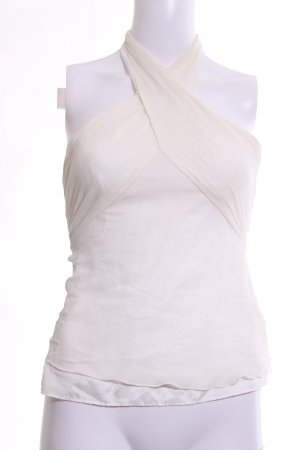 Armani Exchange Halter Top natural white elegant