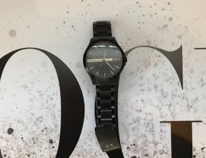Armani Exchange Reloj con pulsera metálica negro