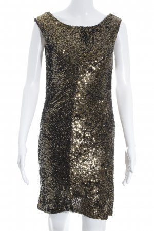 Armani Exchange Pailettenkleid schwarz-goldfarben Glanz-Optik