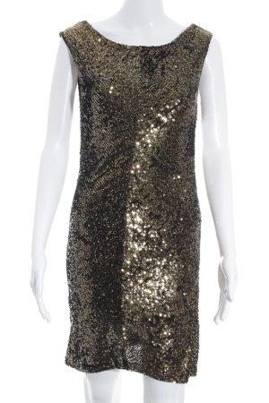 Armani Exchange Vestido de lentejuelas negro-color oro look efecto mojado