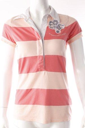 Armani Exchange Polohemd Streifen rosa
