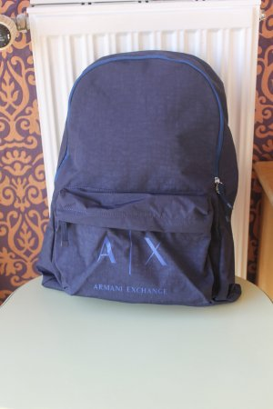 Armani Exchange School Backpack dark blue nylon