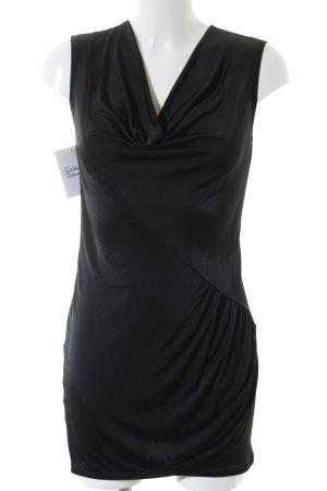 Armani Exchange Vestido strapless negro estilo extravagante