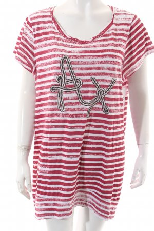 Armani Exchange Shirt white-red striped pattern casual look