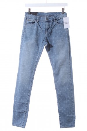 Armani Exchange Skinny Jeans blassblau Punktemuster Washed-Optik