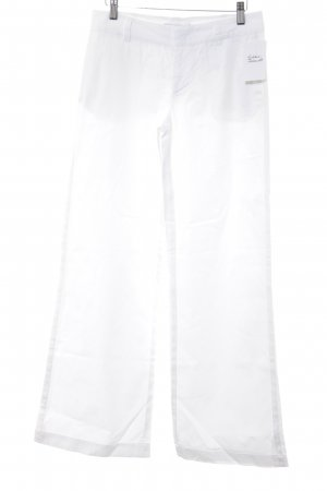 Armani Exchange Pantalón tipo suéter blanco look casual