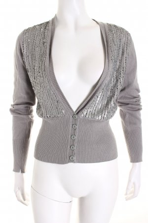 Armani Exchange Strick Cardigan grau Schimmer-Optik