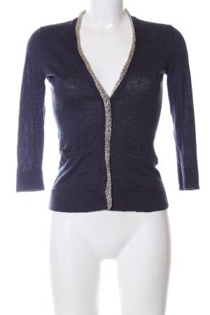 Armani Exchange Veste en tricot bleu-argenté style décontracté