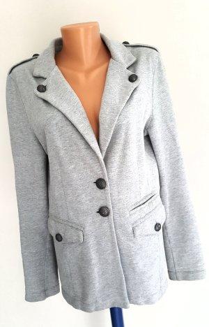 Armani Exchange Blazer de tela de sudadera gris