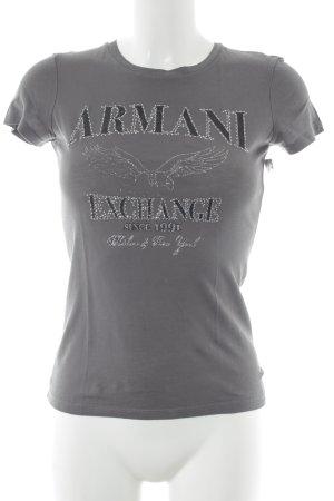 Armani Exchange T-Shirt grau Motivdruck Casual-Look