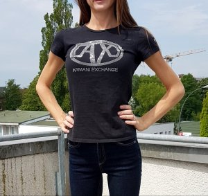 armani exchange T-Shirt mit Strass gr M