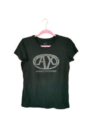 armani exchange T-Shirt mit Strass gr M