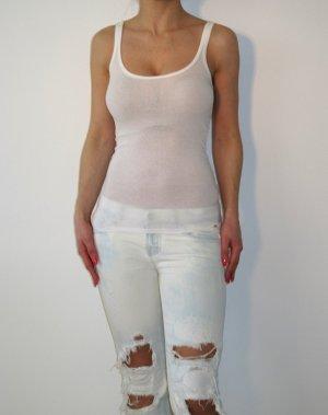 Armani Exchange Tanktop Top Rippshirt Shirt Top Oberteil XS Weiß