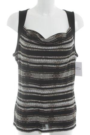 Armani Exchange Top de tirantes negro-crema estampado temático elegante