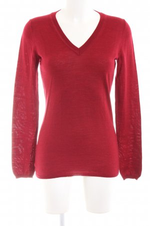 Armani Exchange V-Ausschnitt-Pullover rot Casual-Look