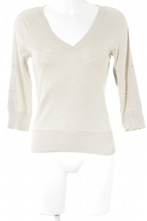 Armani Exchange V-Neck Sweater oatmeal-natural white casual look
