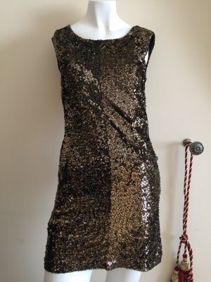 Armani Exchange Vestido color bronce-negro
